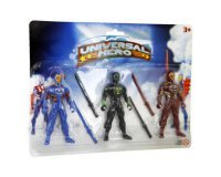Conforama: Figurines de ninjas : 3 ninjas universal hero dont 1 avec motif araignée à 1,49€ au lieu de 2,99€