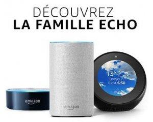 Amazon: -50% sur les enceintes connectées avec l'assistant vocal Alexa Echo, Echo Spot et Echo Dot