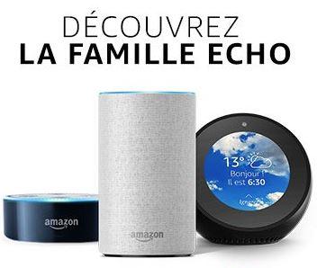 Code promo Amazon : -50% sur les enceintes connectées avec l'assistant vocal Alexa Echo, Echo Spot et Echo Dot