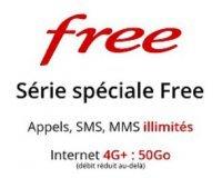 Vente Privée: Forfait Free mobile Appels, SMS, MMS illimités + Internet 4G 50Go à 0.99€/mois pendant 1 an