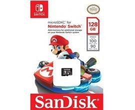 Base.com: Carte stockage - SANDISK 128 GB microSDXC for Nintendo Switch UHS-I U3, à 69,29€ au lieu de 92,39€