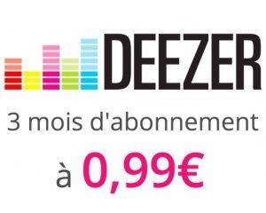 Vente Privée: 3 mois d'abonnement Deezer Premium à 0,99€ au lieu de 29,97€