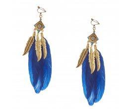 Claire's: Pendants d'oreilles à clip avec plume or poli et bleu marine à 6,99€ au lieu de 9,99€