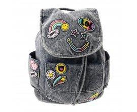 Claire's: Sac à dos en jean avec écussons Smiley à 20€ au lieu de 29,99€
