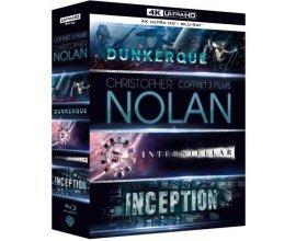 Amazon: Coffret Christopher Nolan 3 Films : Dunkerque / Interstellar / Inception en Blu-Ray 4K à 44,99€