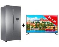 Cdiscount: Pack réfrigérateur américain 500L + TV LED 80cm Haier à 599,99€ au lieu de 1249€