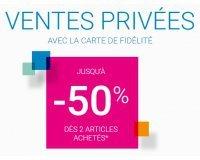 Okaïdi: Ventes privées : Jusqu'à -50% dès deux articles achetés avec la carte de fidélité