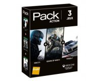 Fnac: Pack 3 Jeux Action Xbox One Halo 5 + Gears of War 4 + Forza 7 à 49,99€