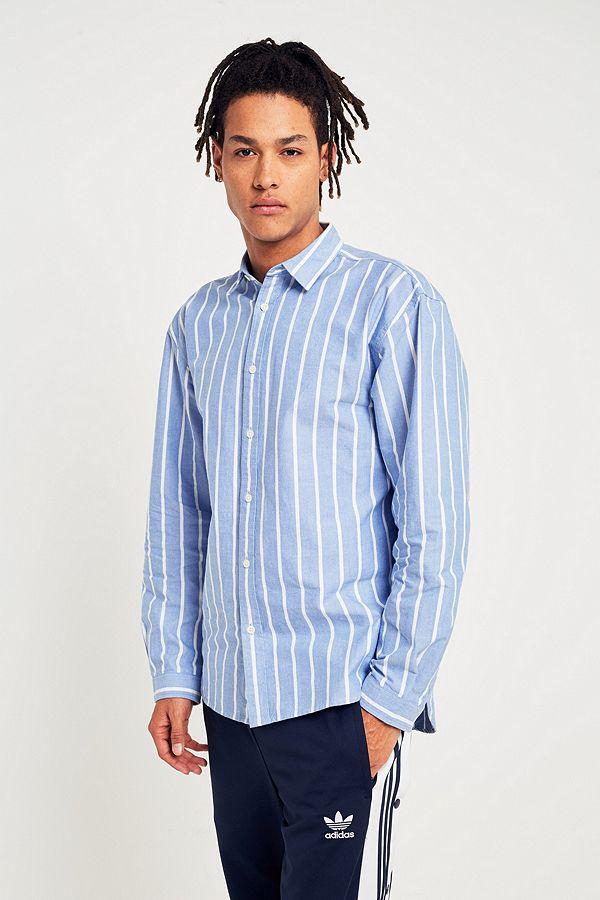 Code promo Urban Outfitters : Chemise Office Skate rayée bleue à 32€ au lieu de 55€