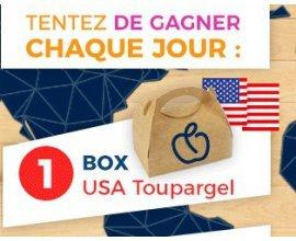 Toupargel: 1 BOX USA Toupargel et 1 Smartbox 3 jours d'évasion gourmande à gagner chaque jour