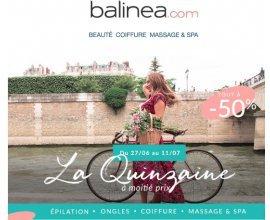 Balinea: Une sélection de soins à -50%