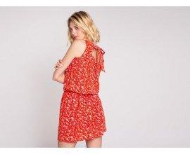 Cache Cache: Robe légère imprimée fleurie rouge noeud au dos au prix de 17,99€ au lieu de 35,99€