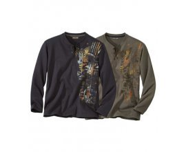 Atlas for Men: Lot de 2 Tee-Shirts Col Grand-Père à 13,20€ au lieu de 33€