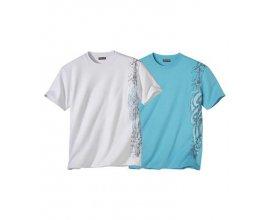 Atlas for Men: Le Lot de 2 Tee-Shirts Maori Graph à 7,77€ au lieu de 25,90€