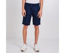 Jules: Bermuda homme en coton lin avec pinces bleu marine au prix de 18€ au lieu de 35,99€