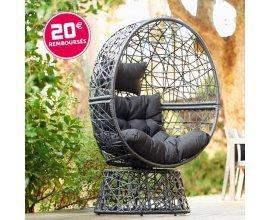 Gifi: -20€ sur le fauteuil de jardin rotatif en résine tressée