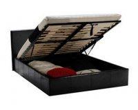 BUT: Lit coffre 140x190 cm Roma Noir soldé à 199,99€