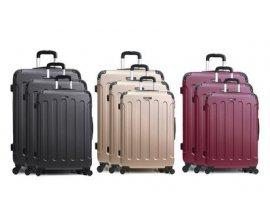 Groupon: Set 3 valises en ABS, 4 roues multi directionnelles à 79,90€ au lieu de 599€