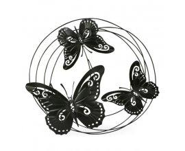 Alinéa: Décoration murale cercle avec papillons en métal noir à 15,60€ au lieu de 19,50€