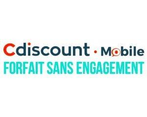 Cdiscount: Forfait Cdiscount Mobile avec Appels, SMS & MMS illimités + 40Go de données à 9,99€/mois à vie