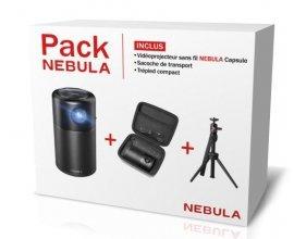 Fnac: Pack Vidéoprojecteur Nebula Capsule + Sacoche + Trépied à 449,99€ au lieu de 649,99€