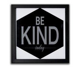 """Alinéa: Image encadrée """"Be kind today"""" 30x30cm à 2€ au lieu de 7,99€"""