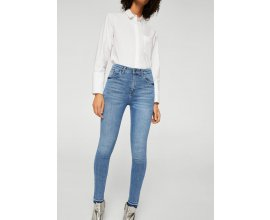 Mango: Jean skinny femme Soho taille haute délavé 5 poches au prix de 15,99€ au lieu de 35,99€