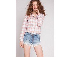 Cache Cache: Chemise femme manches longues à motifs carreaux d'une valeur de 9€ au lieu de 25,99€