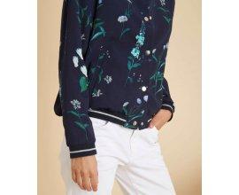 1.2.3: Veste bleu marine femme imprimé floral style teddy d'une valeur de 59€ au lieu de 135€