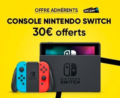 Carte Cadeau Nintendo Fnac.Adherents 30 Offerts En Cheque Cadeau Pour L Achat D Une