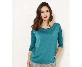 Camaïeu: T-shirt bi-matière femme à 5€ au lieu de 17,99€