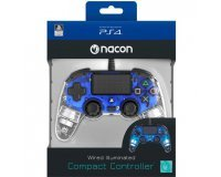 Auchan: Manette filaire Nacon Blue Lumineuse pour PS4 à 27,98€ au lieu de 39,99€