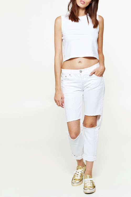 Code promo Uncle Jeans : Jeans Glamorous Boyfriend Destroyed Blanc Femme à 19,98€ au lieu de 39,95€