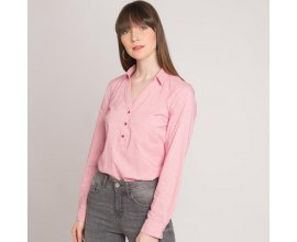 Cache Cache: Chemise femme cintrée manches longues rouge d'une valeur de 7€ au lieu de 19,99€
