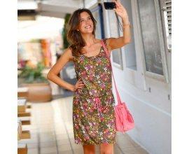 Blancheporte: Robe femme imprimé fleurie resserrée à la taille d'une valeur de 11,19€ au lieu de 27,99€