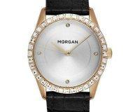 Montres & Co: Montre femme bracelet en cuir façon reptile cadran doré serti Morgan à 44,50€ au lieu de 89€