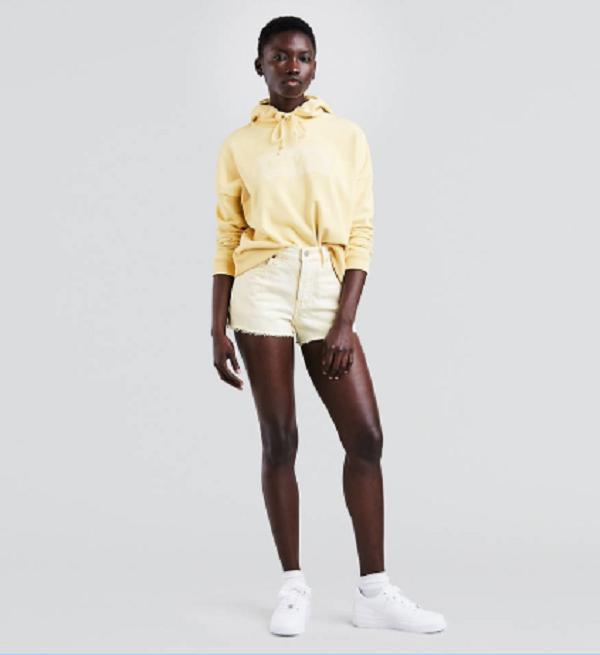 Code promo Levi's : Short en jean femme 501 acide mellow yellow au prix de 38,50€ au lieu de 55€