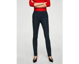 Mango: Pantalon cigarette femme en coton noir au prix de 12,99€ au lieu de 29,99€
