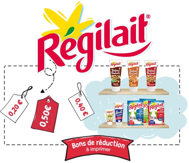Code promo Régilait : Nombreux bons de réduction Régilait à imprimer toute l'année
