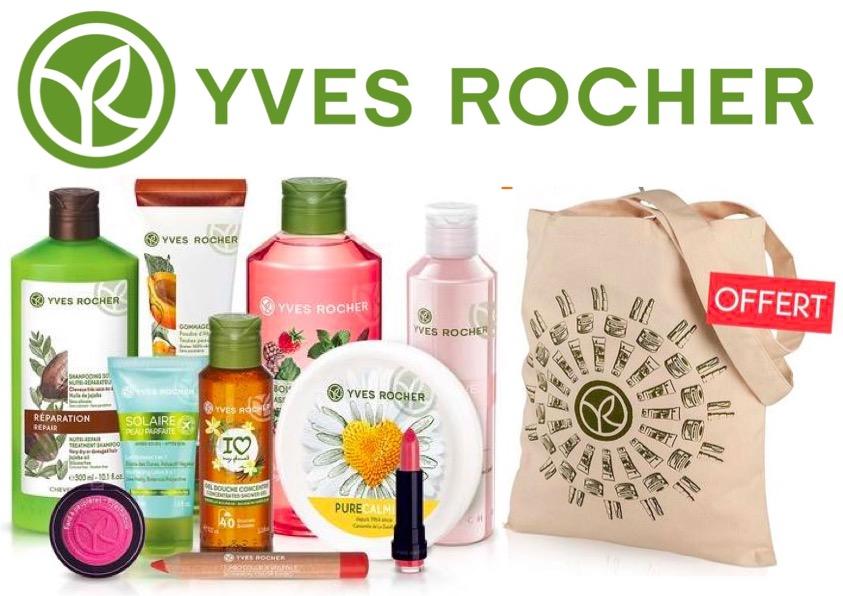 Code promo Yves Rocher : 5 produits de beauté au choix + 1 Tote bag offert + livraison gratuite à 19,90€