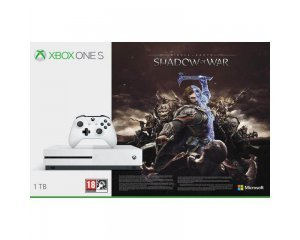 Amazon: Console Xbox One S blanche 1To édition Shadow of War à 183,99€