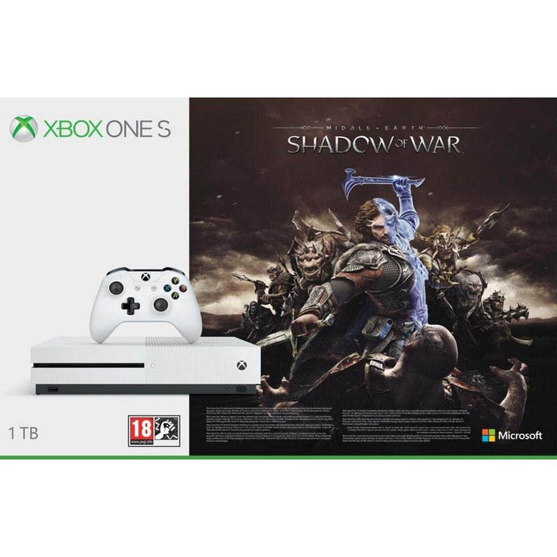 Code promo Amazon : Console Xbox One S blanche 1To édition Shadow of War à 183,99€