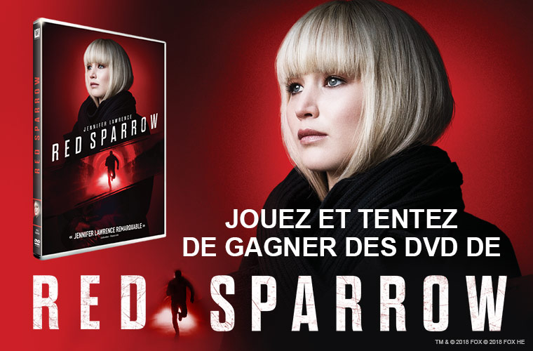 "Code promo Allociné : 10 DVD du film ""Red Sparrow"" à gagner"