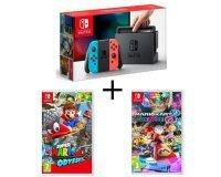 Cdiscount: Console Nintendo Switch + 2 jeux (Super Mario Odyssey et Mario Kart 8 Deluxe) à 389€