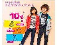 Tati: 1 sweat + 1 t-shirt + 1 bas pour 10€