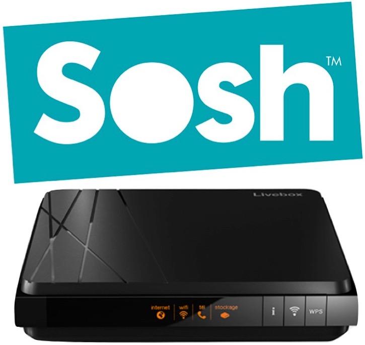 Code promo Sosh : Abonnement internet Fibre Box internet (300Mb/s ↓ & ↑) Sosh sans engagement à 14,99€/mois (1 an)