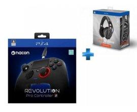 Rue du Commerce: Manette Révolution Pro Controller 2 NACON + Casque RIG 400 HS PS4/PC à 99,90€