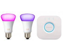 Amazon: Kit de Démarrage Philips Hue - 2 ampoules White & Color E27 + pont de connexion à 69,99€
