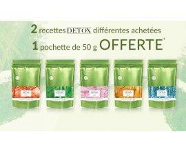 Palais des Thés: 2 recettes DETOX différentes achetées = 1 pochette de 50g offerte