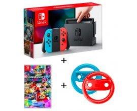 Auchan: Console Nintendo Switch Joy-Con Néon + Mario Kart 8 + Volants à 344,99€